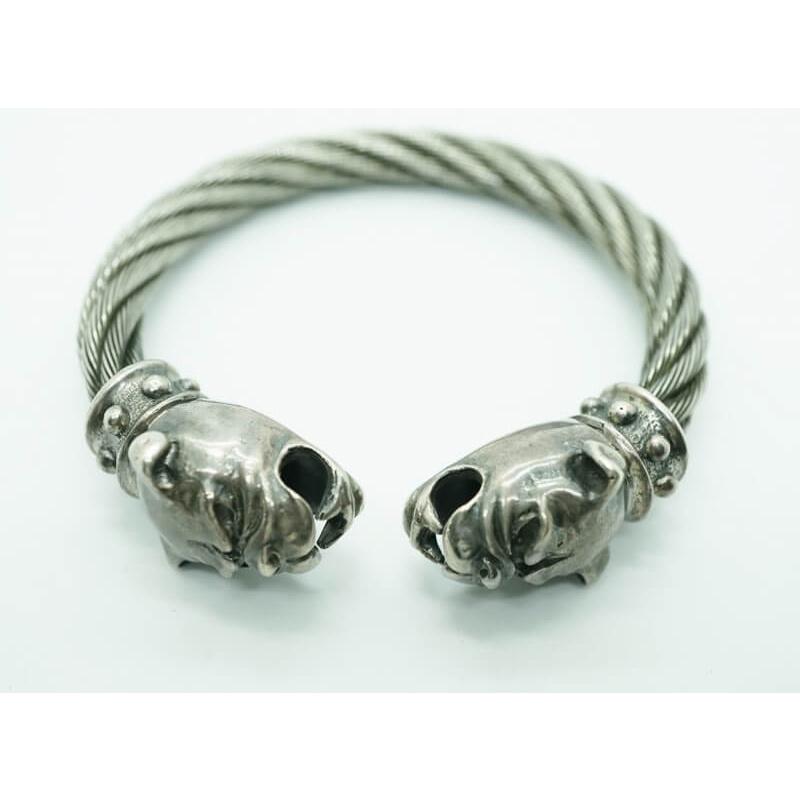 GABORATORY GABOR ガボール ガボラトリー Old Bulldog Cable Wire Bangle [BG-15] silver 正規取扱店/シルバー メンズ アクセサリー バングル ブル 925 シルバー925