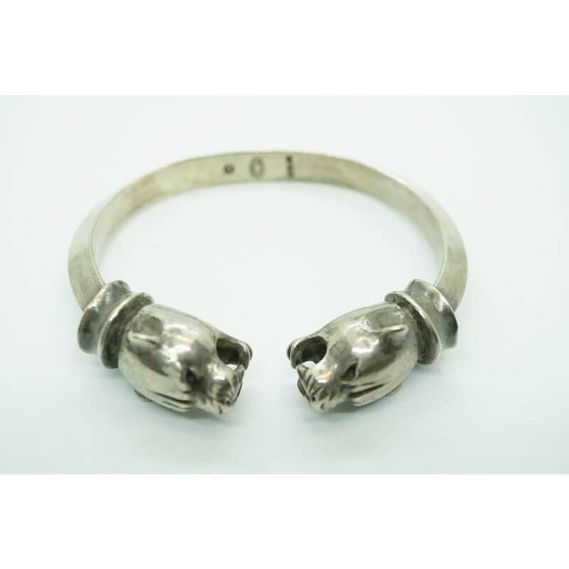 GABORATORY GABOR ガボール ガボラトリー Panther With Bolo Neck Triangle Wire Bangle [BG-18] silver 正規取扱店/シルバー メンズ アクセサリー バングル パンサー 925 シルバー925