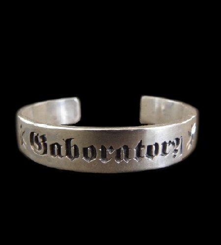 Gaboratory Logo Mark Flat Bar Bangle [BG-28] silver 正規取扱店/シルバー メンズ アクセサリー バングル 925 シルバー925