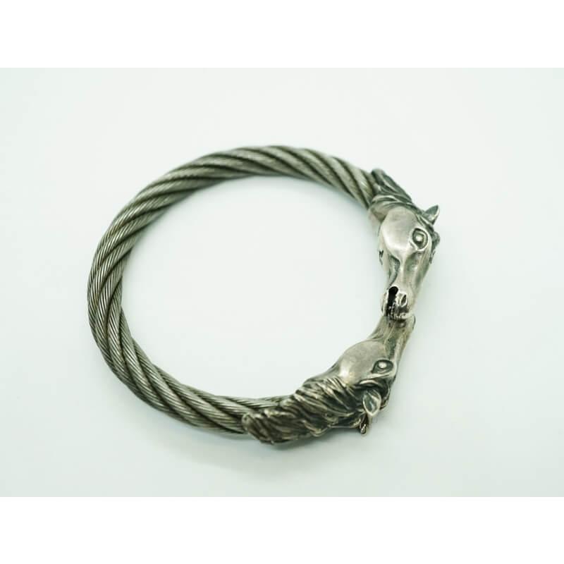 GABORATORY GABOR ガボール ガボラトリー Horse With Teeth Triangle Wire Bangle [BG-35] silver 正規取扱店/シルバー メンズ アクセサリー バングル ホース 925 シルバー925