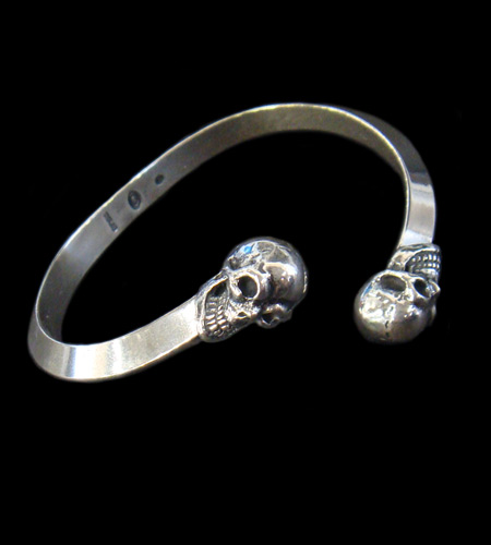 GABORATORY GABOR ガボール ガボラトリー Half Skull Triangle Wire Bangle [BG-06] silver 正規取扱店/シルバー メンズ アクセサリー バングル スカル 925 シルバー925