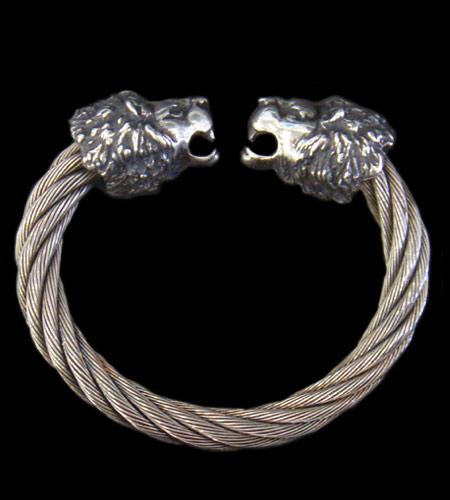 GABORATORY GABOR ガボール ガボラトリー Lion Cable Wire Bangle [BG-09] silver 正規取扱店/シルバー メンズ アクセサリー バングル ライオン 925 シルバー925