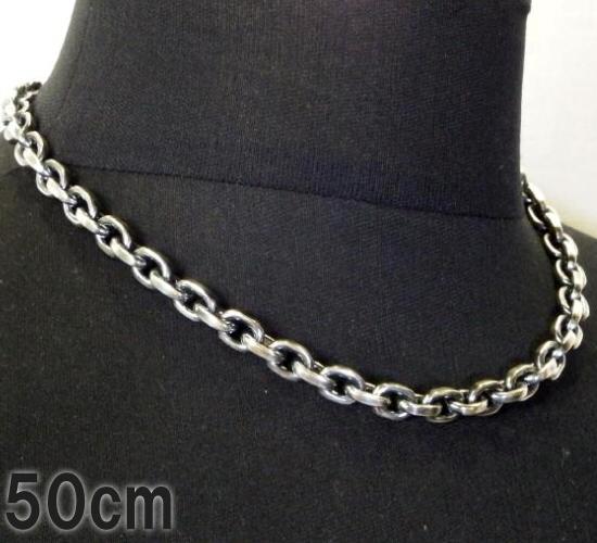 gaboratory gabor ガボール ガボラトリー Half Small Oval Chain & Half T-bar Necklace 50cm [N-101] silver 正規取扱店/シルバー メンズ アクセサリー チェーン Tバー 50 925 シルバー925