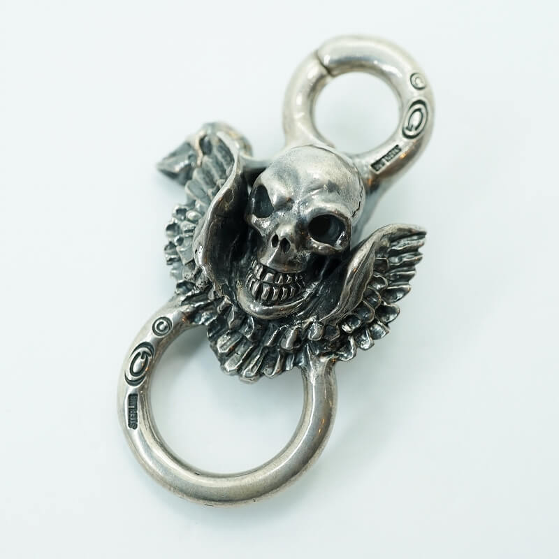 GABORATORY GABOR ガボール ガボラトリー Skull Wing On Clip With Loop [KC-25] silver 正規取扱店/シルバー メンズ アクセサリー クリップ キーキーパー スカル 925 シルバー925