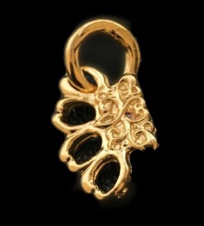 18k Gold 1/128 Mini Knuckle Duster Pendant [18k-21] GABORATORY GABOR ガボール ガボラトリー silver gold 正規代理店 シルバー ゴールド メンズ アクセサリー シルバー925