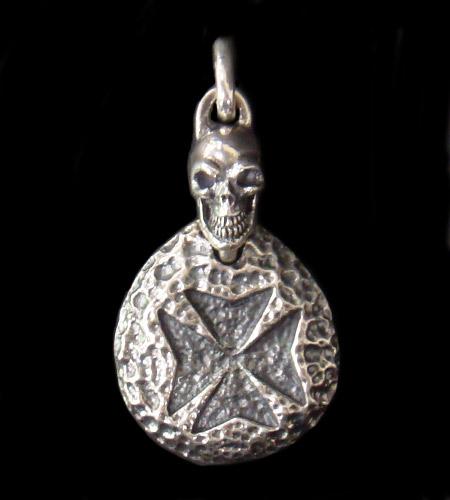 gaboratory gabor ガボール ガボラトリー Maltese Cross Blob With Skull Pendant [P-145] silver 正規取扱店/シルバー メンズ アクセサリー ペンダント スカル クロス 925 シルバー925