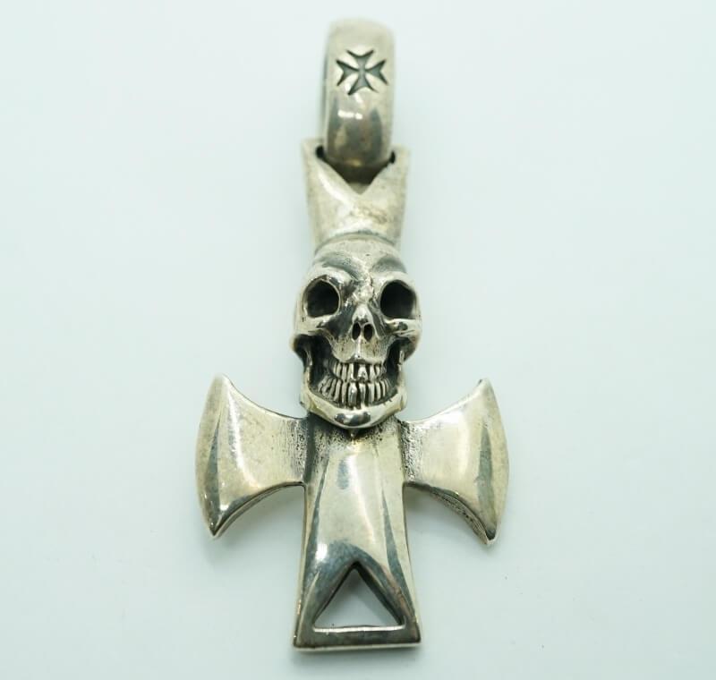gaboratory gabor ガボール ガボラトリー Skull with round zip cross Pendant [P-207] 正規取扱 メンズ アクセサリー ペンダント スカル シルバー 925