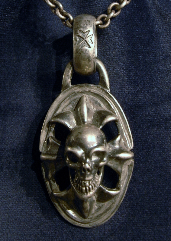 gaboratory gabor ガボール ガボラトリー Skull On Cross Oval With H.W.O Pendant [P-23] silver 正規取扱店/シルバー メンズ アクセサリー ペンダント スカル クロス 925 シルバー925