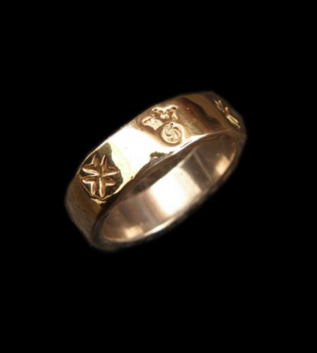 18k Gold Triple Solder On Flat Bar Ring [R-65] gaboratory gabor ガボラトリー ガボール silver 正規取扱店/シルバー メンズ アクセサリー リング ゴールド 925 シルバー925