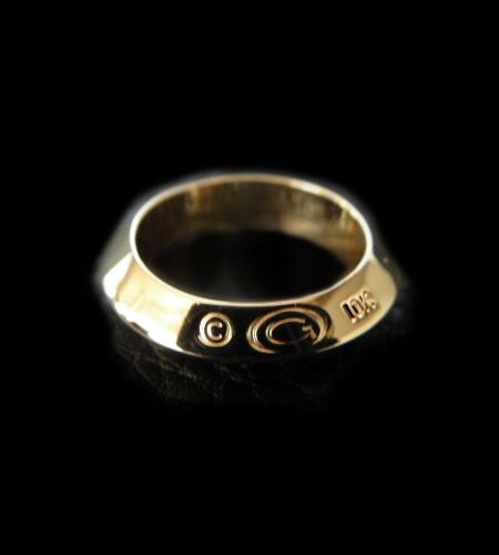 ◆10k Gold Half Triangle Wire Bangle Ring [10k-12] gaboratory gabor ガボラトリー ガボール silver 正規取扱店/シルバー メンズ アクセサリー リング ゴールド 925 シルバー925
