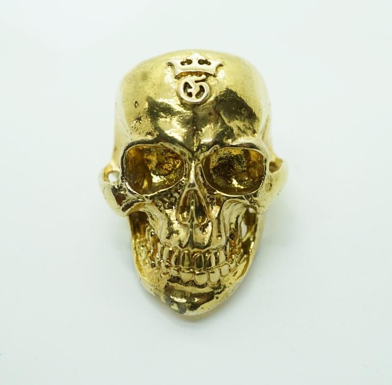 gaboratory gabor ガボラトリー ガボール 10k Gold Half Large Skull Ring [10k-18] 正規取扱 ゴールド メンズ アクセサリー リング スカル