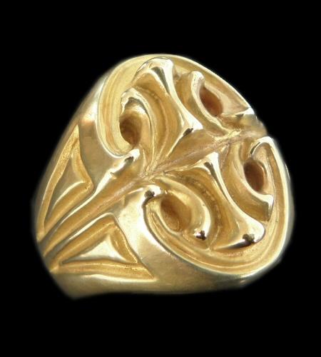 10k Gold Sculpted Oval Signet Ring [10k-21] gaboratory gabor ガボラトリー ガボール silver 正規取扱店/シルバー メンズ アクセサリー リング ゴールド 925 シルバー925