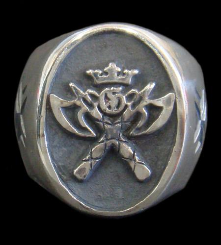 GABORATORY GABOR ガボール ガボラトリー G&Crown Battle-Ax Ring [R-3] silver 正規取扱店/シルバー メンズ アクセサリー クラウン リング 925 シルバー925