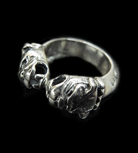 GABORATORY GABOR ガボール ガボラトリー Quarter Old Bulldog Triangle Wire Bangle Ring [R-34] silver 正規取扱店/シルバー メンズ アクセサリー ブルドック リング 925 シルバー925