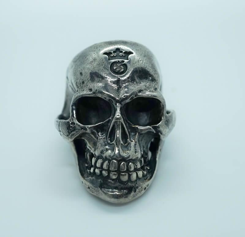 GABORATORY/GABOR/ガボール/ガボラトリー Medium Large Skull Ring with Jaw[R-39] gaboratory/gabor/ガボール/ガボラトリー/silver 正規取扱店/シルバー メンズ アクセサリー リング スカル 925 シルバー925