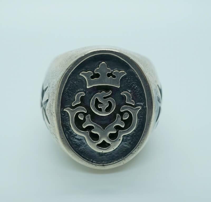 GABORATORY GABOR ガボール ガボラトリー Atelier Mark Signet Ring [R-4] 正規取扱店 シルバー メンズ アクセサリー リング スカル クラウン G&クラウン シルバー 925