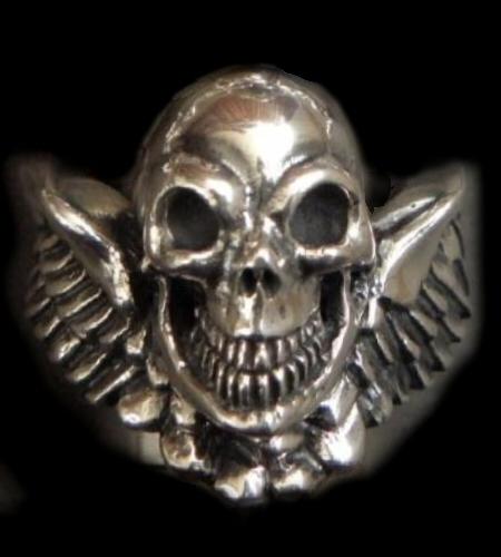 GABORATORY/GABOR/ガボール/ガボラトリー Wing Skull Ring [R-42] gaboratory/gabor/ガボール/ガボラトリー/silver 正規取扱店/シルバー メンズ アクセサリー リング スカル 925 シルバー925