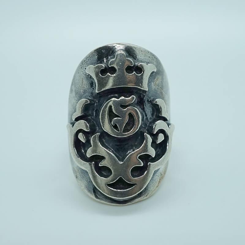 Large Raised Atelier Mark Ring [R-85] gaboratory gabor/ガボラトリー/ガボール/silver 正規取扱店/シルバー メンズ アクセサリー リング 925 シルバー925