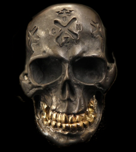 ◆Xconz Collaboration 18k Gold Teeth Large Skull Ring [XG-01] gaboratory gabor/ガボラトリー/ガボール/silver 正規取扱店/シルバー メンズ アクセサリー リング スカル 925 シルバー925
