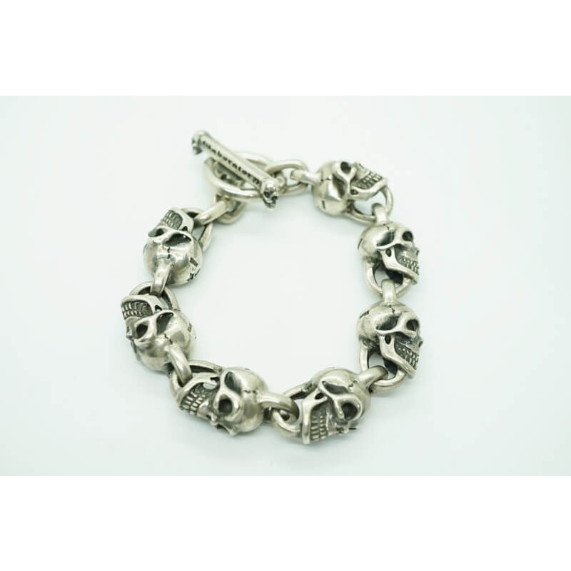 GABORATORY GABOR ガボール ガボラトリー GABORATORY ガボール All Skulls Link Bracelet [B-12] 正規取扱店 メンズ アクセサリー ブレスレット シルバー 925