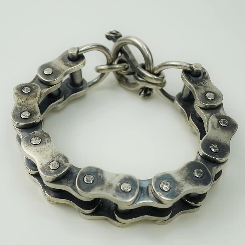 gaboratory gabor ガボール ガボラトリー Motorcycle Chain Bracelet (Middium) [B-131] silver 正規取扱店/シルバー メンズ アクセサリー モーターサイクル チェーン ブレスレット ミディアム 925 シルバー925