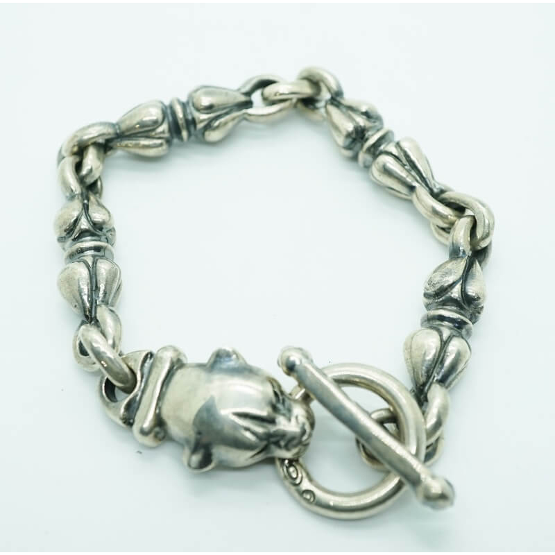 GABORATORY GABOR ガボール ガボラトリー Long Neck Panther With Noodle Links Bracelet [B-170] 正規取扱店 メンズ アクセサリー ブレスレット シルバー 925