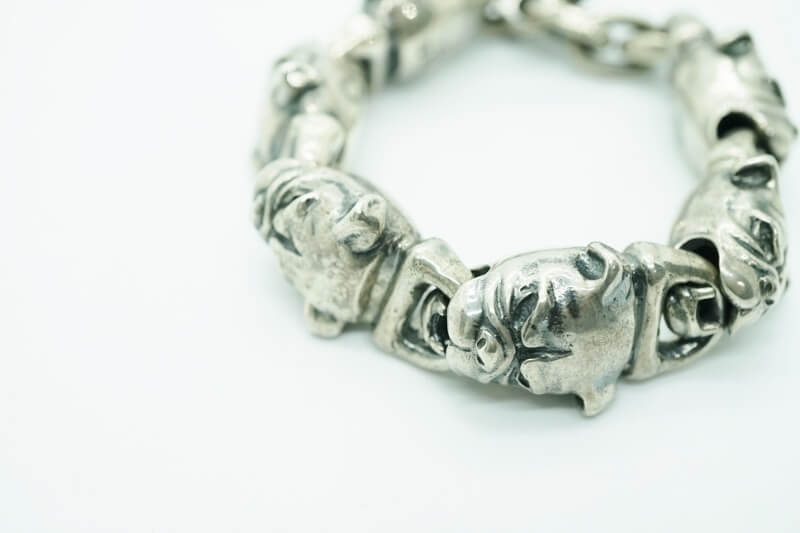 GABORATORY GABOR ガボール ガボラトリー All Bulldog Links Bracelet [B-77] silver 正規取扱店/シルバー メンズ アクセサリー ブレスレット ブル 925 シルバー925