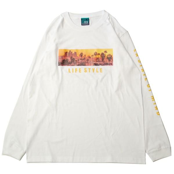 ミュージック MUSICK LA STATE OF MIND L/S Tシャツ WHITE/ホワイト 長袖 Tシャツ