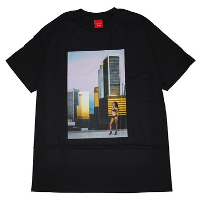 V/SUAL ROOFTOP S/S Tシャツ (BLACK)