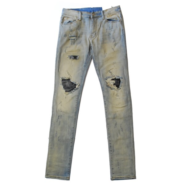 ミニマル mnml X163 DENIM STRETCH BLUE/ブルー デニム パンツ スーパー スキニー ストレッチ