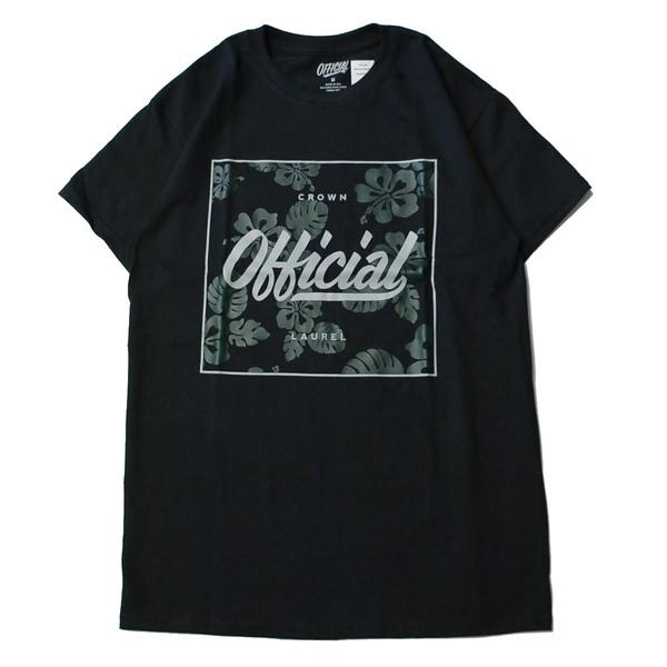 オフィシャル OFFICIAL HIBISCUS S/S Tシャツ BLACK/ブラック Tシャツ 半袖