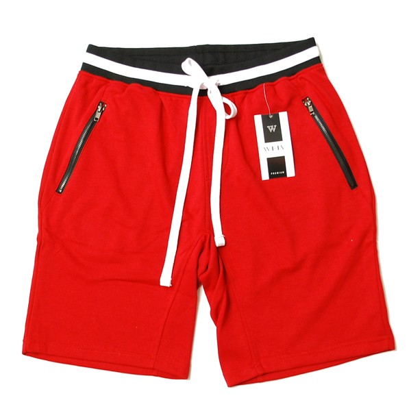 WEIV LA BRANDON FRENCH TERRY SHORTS RED/レッド スウェト ショーツ ハーフパンツ