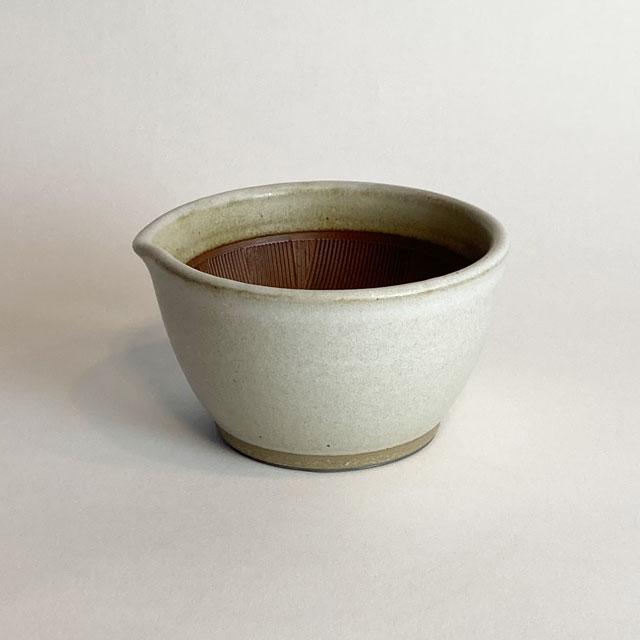 元重製陶所 もとしげ すり鉢 春の新作 本物◆ 白 小