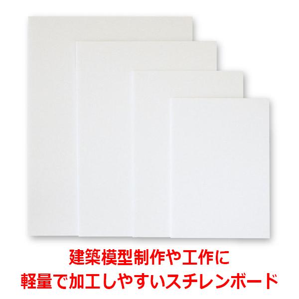 スチレンボードの定番(のりなし) ポップコーア5mm厚B2サイズ(515x728mm)両面紙貼り発泡スチロール板
