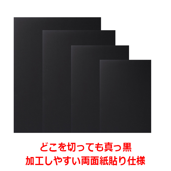 【送料無料】切断面も黒の発泡スチレンボード/発泡スチロール板 ブラックボード5mm厚3x6サイズ(900×1800mm)5枚組