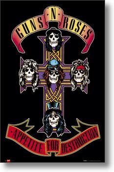 MLP238 店 ガンズ アンド ローゼズ ジャケット柄 ポスター Guns N'Roses 低価格化