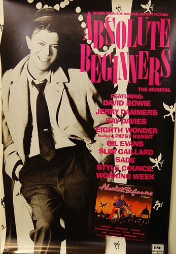 ヴィンテージ プロモーショナル ポスター デヴィッド・ボウイ(David Bowie)--Absolute-Beginners-Soundtrack-24