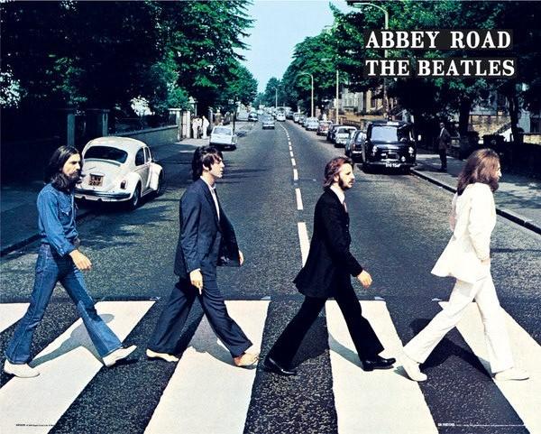 ビートルズ ミニポスター アビーロード 40cmx50cm 卸直営 Abbey Road THE BEATLES 25%OFF
