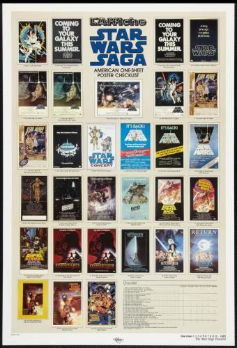 スターウォーズ チェックリスト オリジナルポスター STAR WARS SAGA CHECKLIST ONE-SHEET