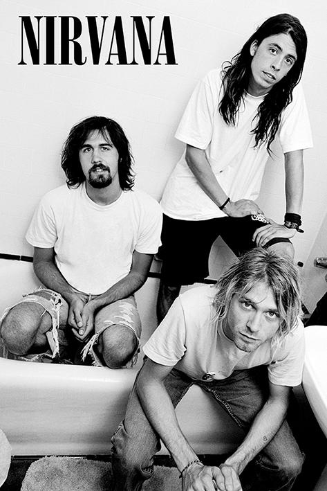 ニルヴァーナ ポスター カート コバーン Bathroom 再再販 200730 Nirvana 人気 おすすめ