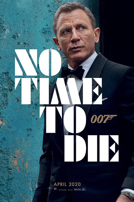 007 ノー タイム トゥ ダイ ポスター ジェームス ボンド ダイニエル クレイグ 200730 Die 正規認証品!新規格 Time Azure - James Bond To Teaser 最新号掲載アイテム No