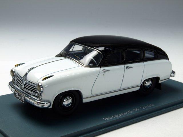ミニカー 1/43 ネオ NEO ボルグワルド ハンザ 2400 1955年 ホワイト/ブラック(NEO43452)
