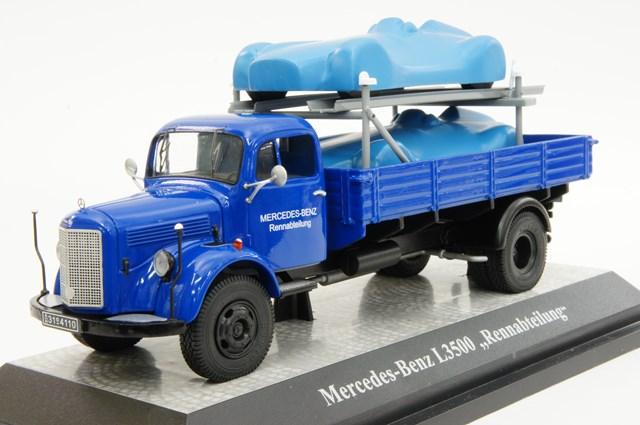 ミニカー 1/43 プレミアムクラシックス Premium ClassiXXs メルセデスベンツ L3500 パレットトラック(カバー付メルセデスベンツ2台積載)(12459)