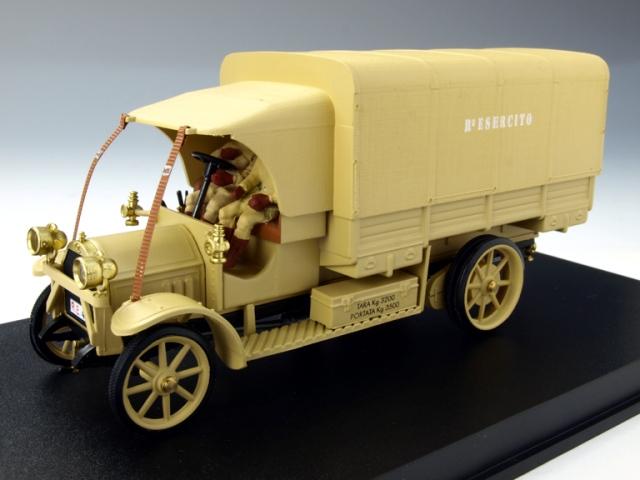 リオ RIO フィアット 18 BL 1919年 イタリア軍 「Il Re del deserto」 フィギュア2体(4378P)【ミニカー】【1/43】【フィアット】