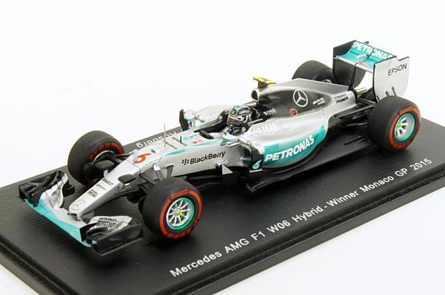 土日出荷可能 完成品ミニカー ミニカー 1 43 出荷 スパーク Spark お買い得 S4601 メルセデス No.6 W06 2015年 F1 ハイブリッド N.Rosberg モナコGP 優勝