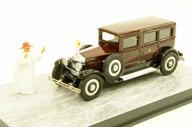 ミニカー 1/43 リオ RIO (RIO4480-P) フィアット 525 1929年 ピウス11世専用車 フィギュア付