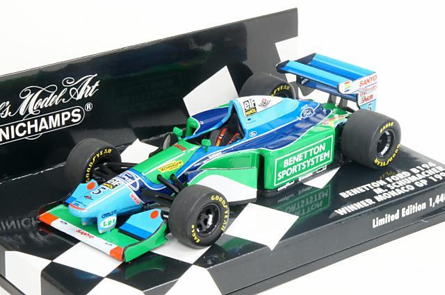 贅沢 ミニカー 1 ベネトン/43 ミニチャンプス MINICHAMPS(400940005) ベネトン フォード B194 モナコGP 1994年 ミニチャンプス モナコGP 優勝 No.5 M.Schumacher(フィギュア無), アウトドアショップ遊星舎:6c33b758 --- clftranspo.dominiotemporario.com