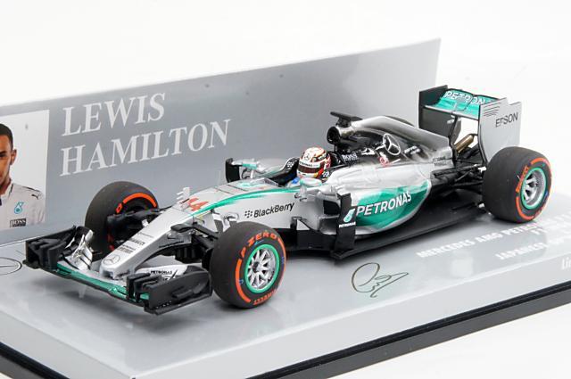 ミニカー 1/43 ミニチャンプス MINICHAMPS (417150344) メルセデスAMG ペトロナスF1チーム W06 ハイブリッド 2015年 日本GP 優勝 No.44 L.Hamilton