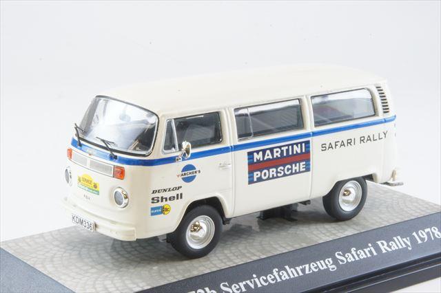 ミニカー 1/43 プレミアムクラシックス Premium ClassiXXs (PCS11755) フォルクスワーゲン T2 サービスバン チーム マルティニ ポルシェ サファリ ラリー 1978