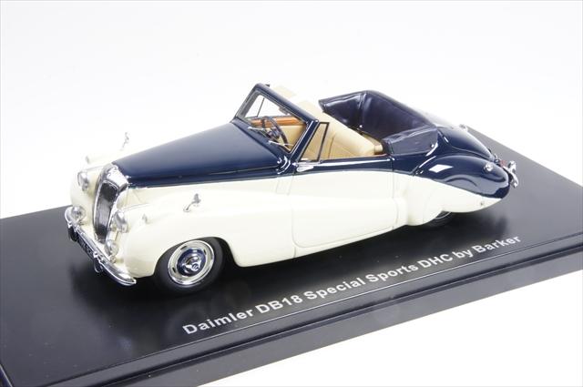 ミニカー ネオ (NEO46820) 1/43 ダイムラー DB18 スペシャルスポーツ Barker 1952 ベージュ/ダークブルー